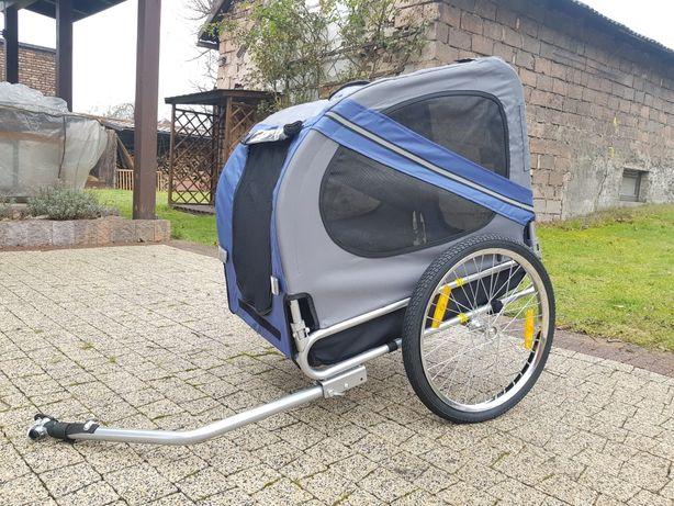 Przyczepka rowerowa dla psa pieska kota kotka transportowa