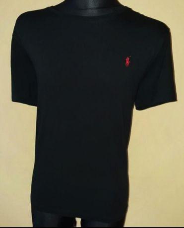 T-shirt RALPH LAUREN XL czarny czarna koszulka czerwony znaczek