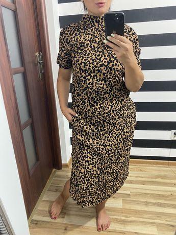 Midi sukienka w panterke mark spencer limited edition 100% viscose s