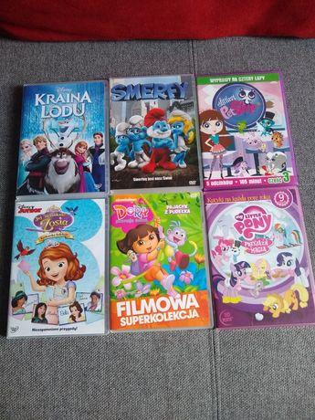 Bajki DVD 6 różnych filmów