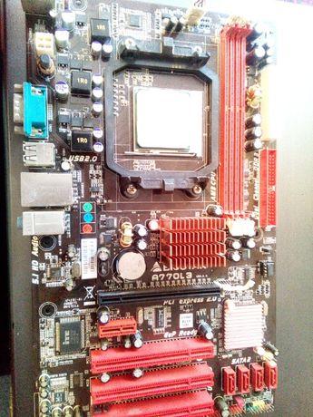 Материнская плата Biostar A770L3 (sAM3, AMD 770) + cpu в Подарок