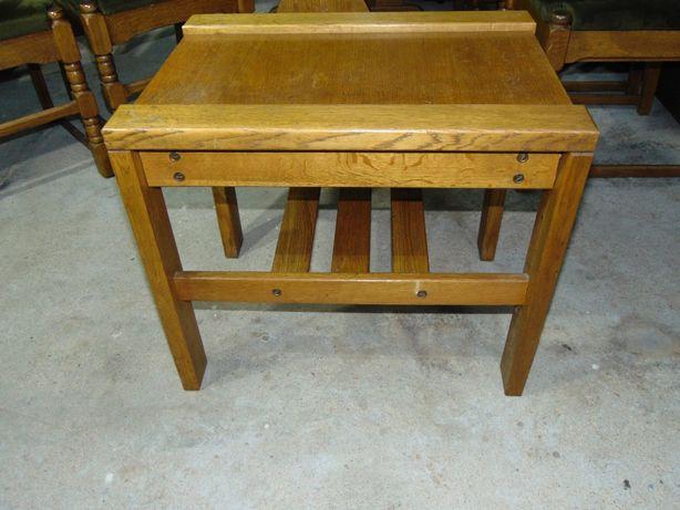 Stolik dębowy ława