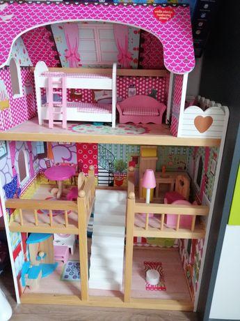 Domek dla lalek drewniane mebelki