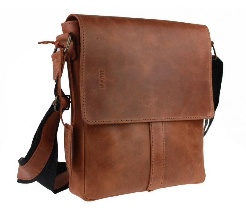 Кожаная мужская сумка ручной работы фирмы Sullivan Козелец - изображение 1