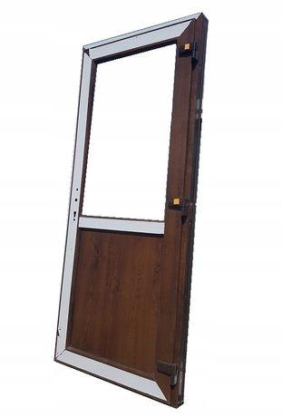 Drzwi Zewnętrzne PCV KACPRZAK Orzech 90x210 lewe