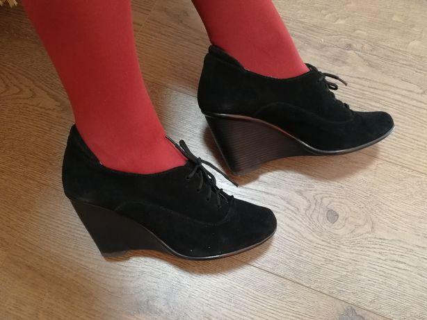 Туфли чёрные замшевые, 37 размер