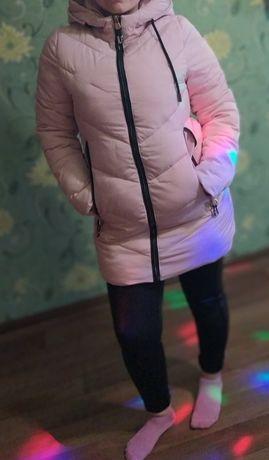 Куртка зимняя нежно розового цвета