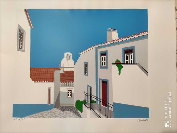 Serigrafias de artista plástico espanhol Molina.
