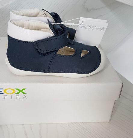 nowe buty półbuty buciki letnie dziecięce geox r 23 wkl 14.5cm skóra