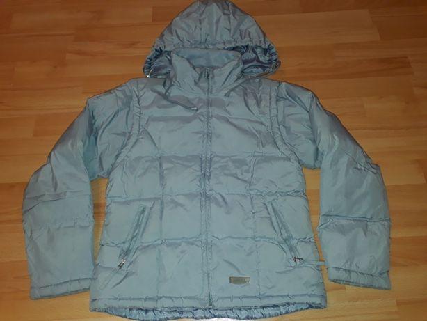 Zimowa kurtka-kamizelka błękit r.S