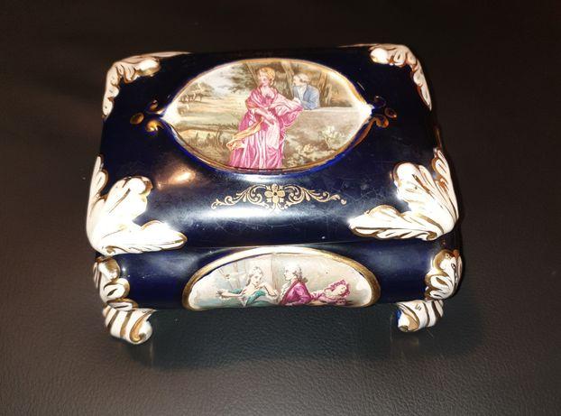 Caixa guarda jóias Alcobaça louça Raúl da Bernarda