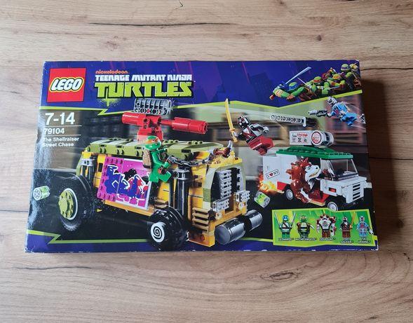 Klocki Lego 79104 Wojownicze Żółwie Ninja Turtles Pościg uliczny Nowe