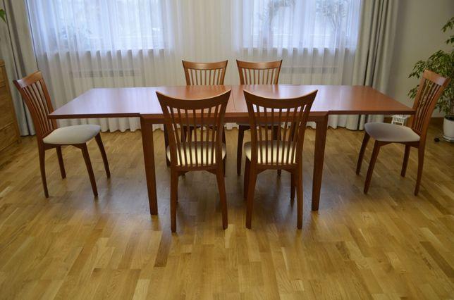 Włoski drewniany stół pechino + 6 krzeseł (Ideal Sedia)