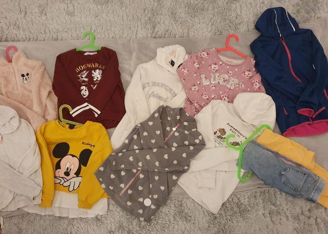 Ubrania roz140-152dziew,kurtka,7xbluzy,7xsukienki,2×spodnie,H&M,GRATIS