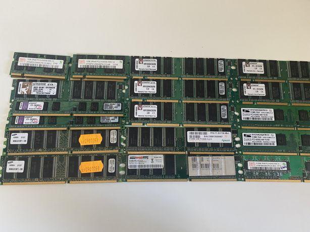 Lote Memórias RAM DDR1 DDR2 - 1GB, 512MB, 256MB)
