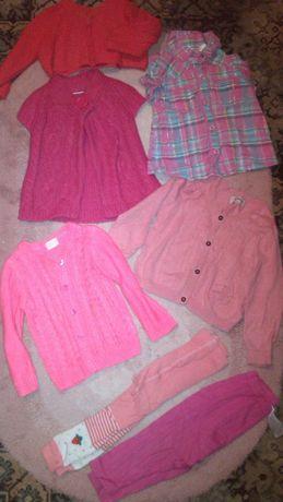 вещи 1-2 года,кофта,платье,боди,жилетка,колготы