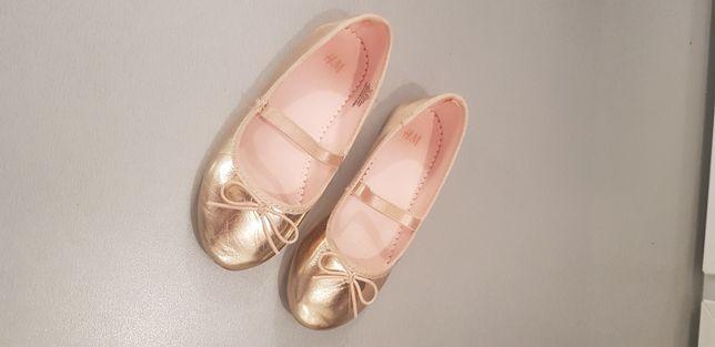 Baleriny złote H&M roz. 29