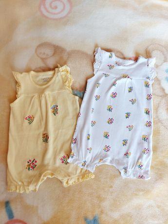 Літній одяг для немовлят, футболка, пісочник 0-3 міс. Ціна 40гр за шт.