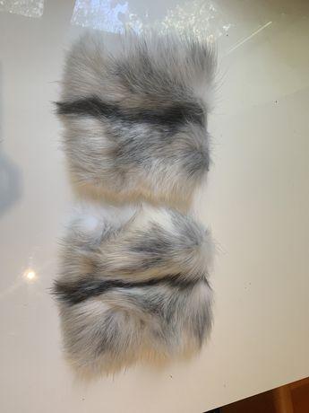 Накладные меховые карманы из натурального меха