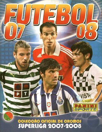 Caderneta Completa Futebol 2007/2008 panini com todos os BIS