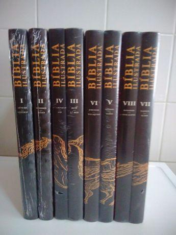 Bíblia Ilustrada Coleção de 8 volumes de José Tolentino Mendonça