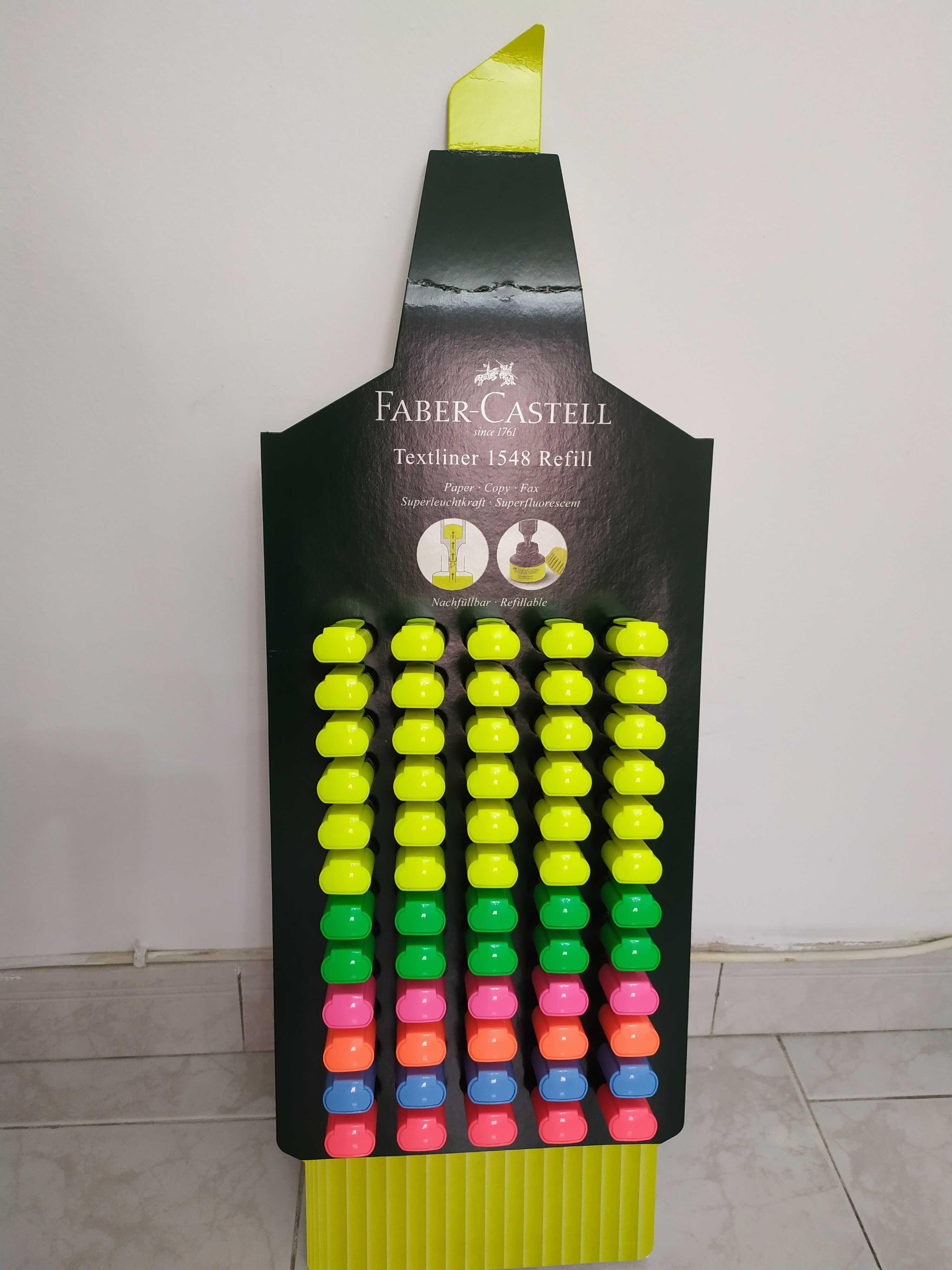 Marcadores/Sublinhadores Faber Castell - várias cores