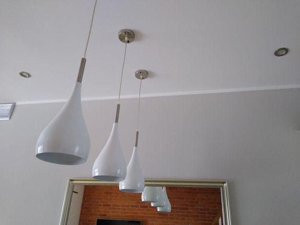 Lampa lampy wiszące idealne nad stół wysepkę białe