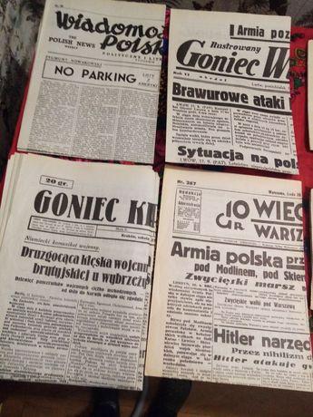 Gazety kolekcjonerskie wojenne 1939, 40.Zdjec 9. Stan idealny.