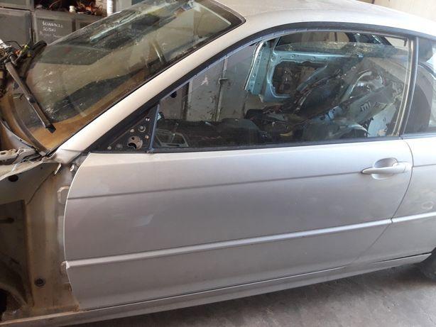 BMW e46 coupe drzwi lewe Titansilber metallic 354/7