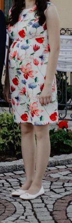 Sukienka ciążowa w kwiaty