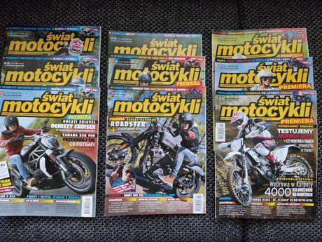 Świat Motocykli 2016r. miesięcznik + gratis
