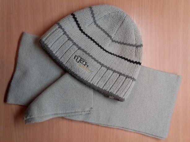 Шапка и шарф для мальчика подростка