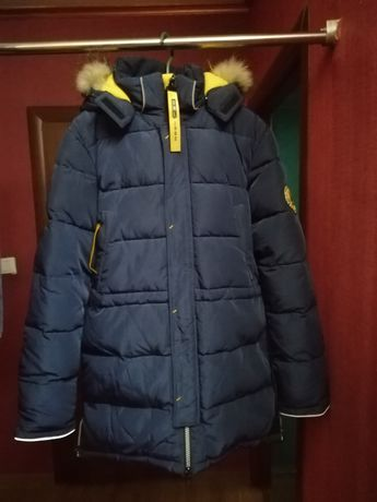 Куртка-пальто зимова на хлопчика 164-170 см