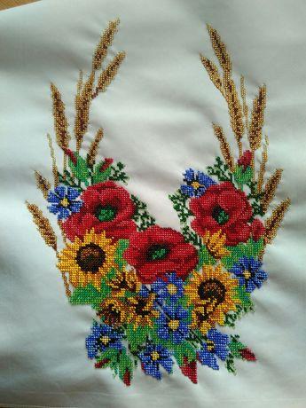 Традиційний весільний рушник, ручна робота