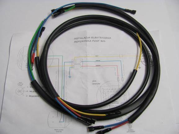 Romet Motorynka Pony 50M1 50M2 50M3 M301 instalacja elektryczna śląsk