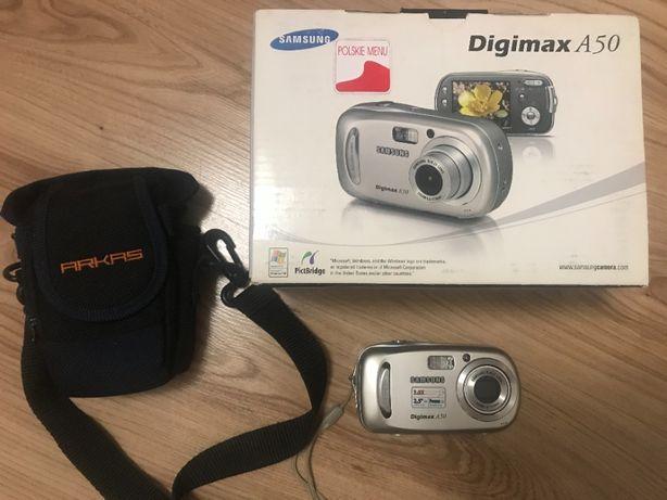 Aparat fotograficzny Samsung Digimax A50 + etui