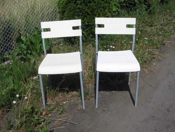 2 krzesła metalowe-rozkręcane.
