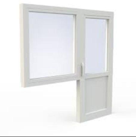БЕЗПЛАТНО Балконный блок (дверь и окно) деревянные