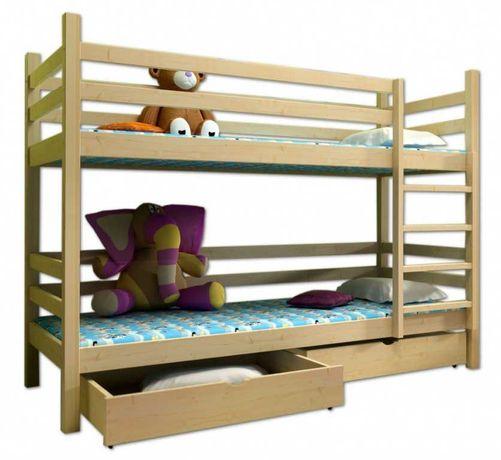 Łóżko piętrowe z materacami na 2 lub 3 osoby, DOWÓZ GRATIS !