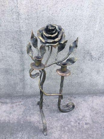 Подсвечник Роза кованная