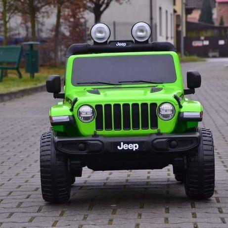 Auto na akumulator Jeep Wrangler Rubicon Zielony