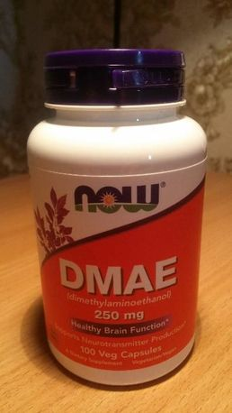 Now Foods DMAE, ДМАЭ, 250 мг, 100 капсул, БАД, ноотроп