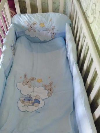 Постельный комплект в кроватку Feretti Rabbit Blue