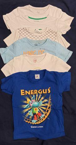 Koszulki t-shirty chłopięce 6szt. r. 116