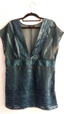 Bluzka Marks&Spencer 42 XL tunika mgiełka