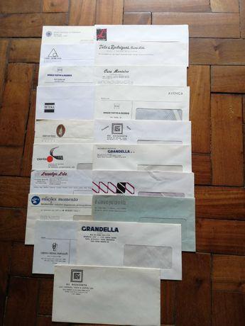 Envelopes de empresas desaparecidas