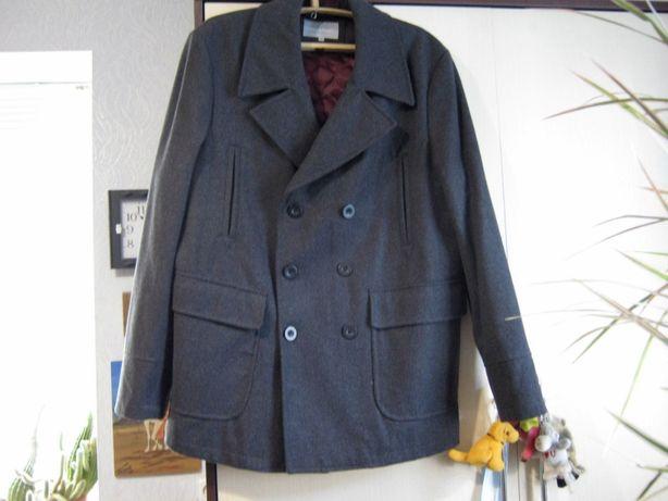 Мужской бушлат полупальто куртка пальто р. 50 новый (шерсть)