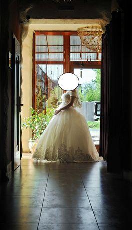SUKNIA ślubna Salon Boginya 1 200 $ model Księżniczka 36/38 rozmiar