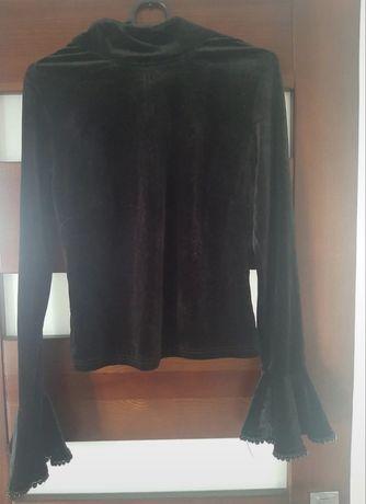 Welurowa bluzka M
