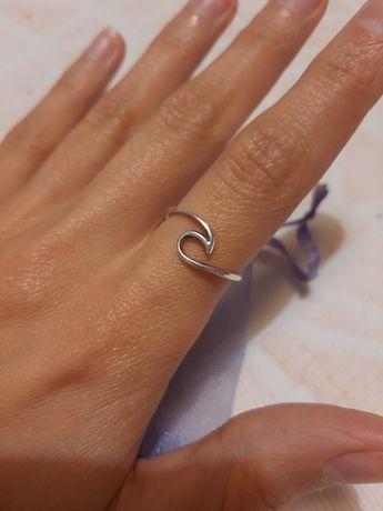 Anel Onda do Mar em prata 925 / prata de Lei
